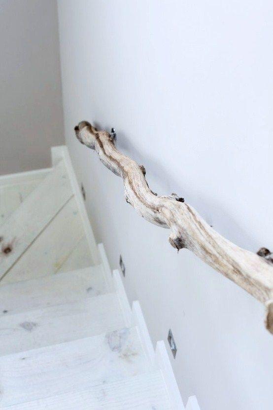 houten trapleuning (zintuiglijke ervaring)