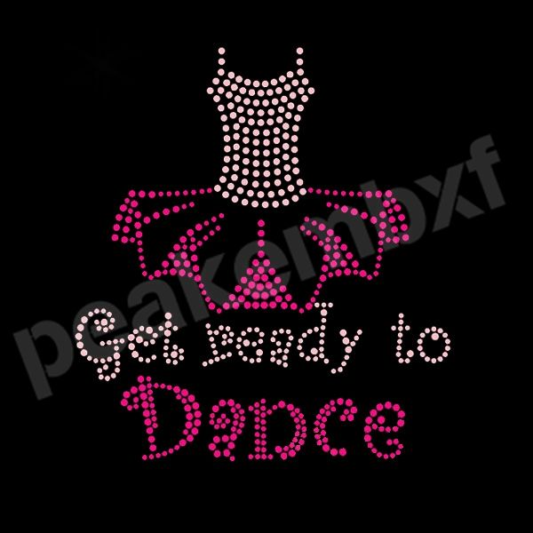 Fashion Get Ready To Dance Rhinestone Transfers Wholesale 30pcs/lot