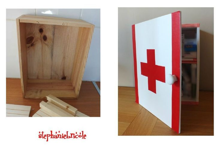 diy d co r cup faire une armoire pharmacie avec une caisse en bois caisses de vin id e. Black Bedroom Furniture Sets. Home Design Ideas