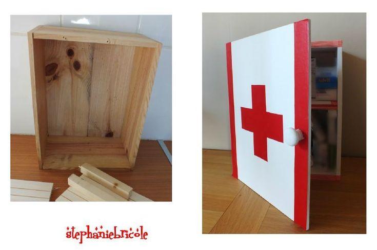 DIY déco récup u2013 Faire une armoireà pharmacie avec une caisse en bois # Bois Bandé En Pharmacie
