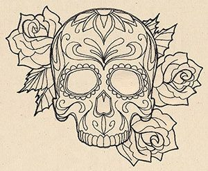 587138_Thread Tattoos - Sugar Skull design (UT6713) from UrbanThreads.com