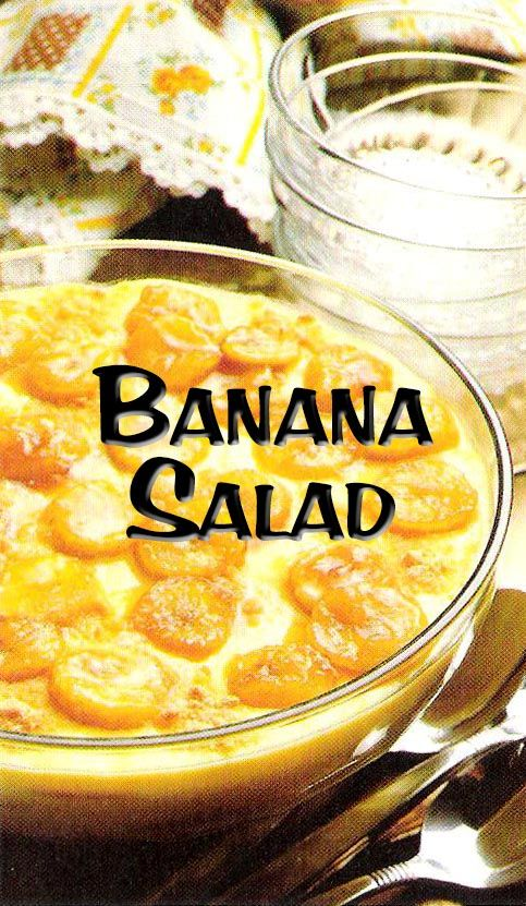 South African Recipes | BANANA SALAD
