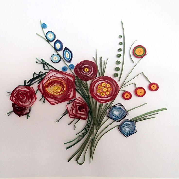 Ένα υπέροχο μπουκέτο λουλούδια! Αφού το φτιάξετε μπορείτε να το τοποθετήσετε σε ένα κάδρο!