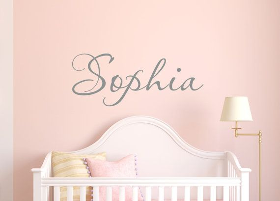 Girls Name Vinyl Wall Decal Personalized Name Wall  by LucyLews, $12.00