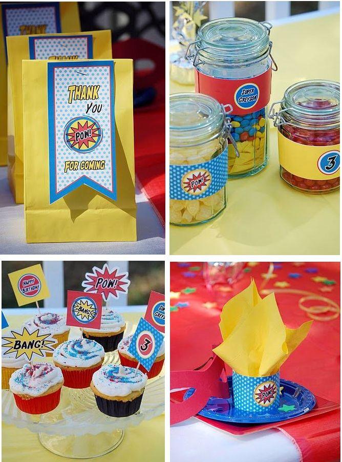Superhero Party: Party'S, Superhero Party, Kids Birthday Parties, Superhero Parties, Parties Ideas, Super Heroes, Heroes Parties, Party Ideas, Superhero Birthday Parties