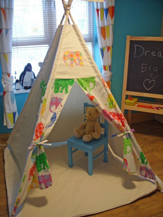 Large Teepee Teepee Play Tent Kids Teepee by TheTeepeeFairy