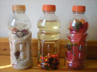 Autumn sensory bottles