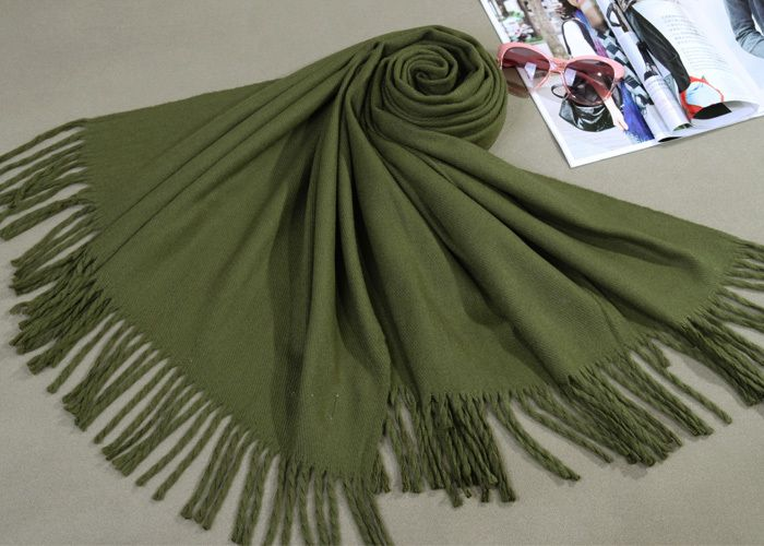 Find More Scarves Information about Free Shipping Army Green New Winter Women's Cashmere Shawl Scarf Thick Warm Wrap WS009 X,High Quality shawl wrap scarf,China shawl dress Suppliers, Cheap scarf blue from Chinese NO.1 on Aliexpress.com