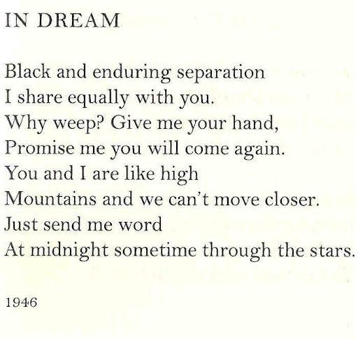 """Anna Akhmatova,"""" In Dream""""."""