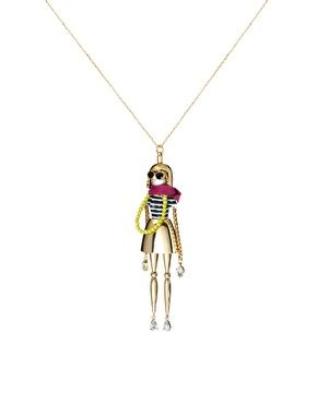 Juicy Couture Fashionista Doll Pendant Necklace
