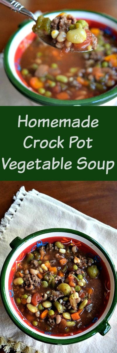 Homemade Vegetable Soup is the perfect winter comfort food! This recipe is so easy and can be make in the crockpot or on the stove top!