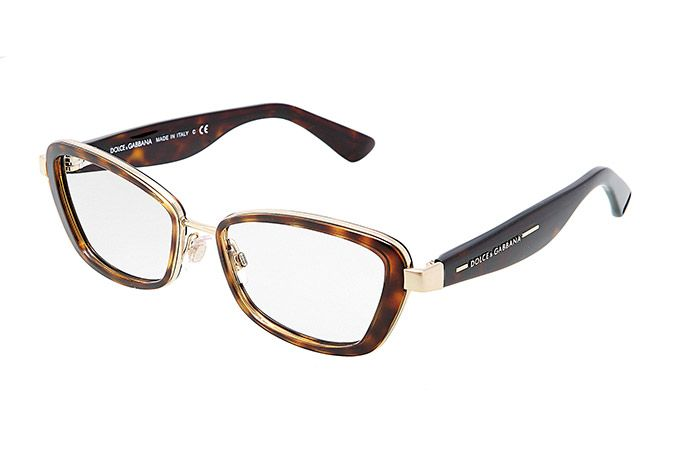 Women's havana metal eyeglasses with cat-eye frame by Dolce & Gabbana dg-1225   Eyewear Dolce & Gabbana