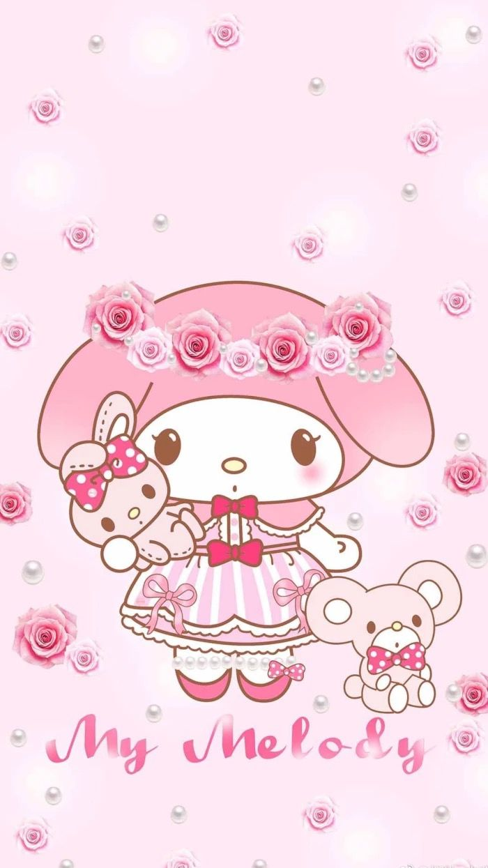Pin By Hallie Treece On My Melody Sanrio Wallpaper Hello Kitty My Melody Hello Kitty Wallpaper
