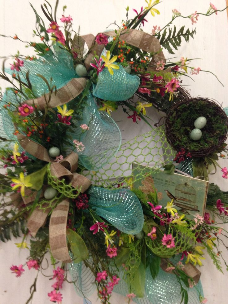 Spring wreath | Columbia Floral | Pinterest | Wreaths