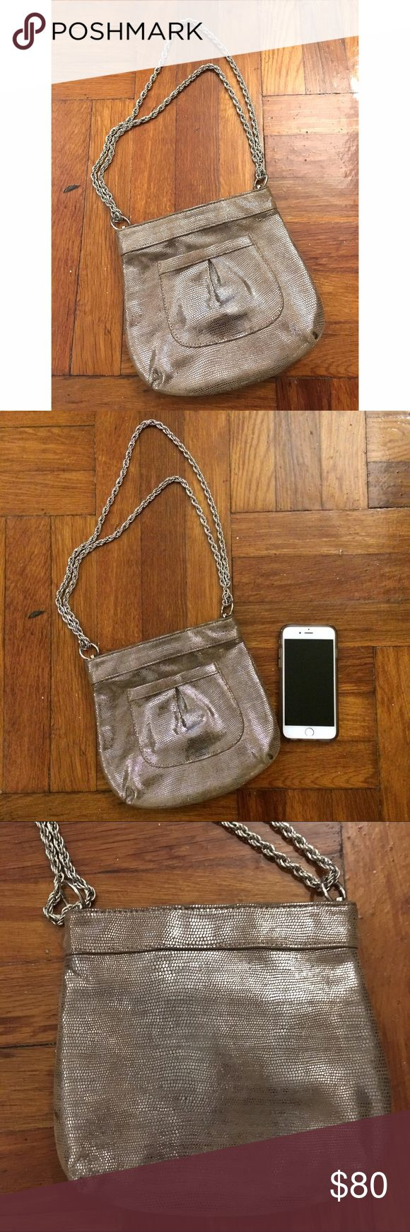 Lauren Merkin lamb leather evening shoulder bag Once-used evening bag with silver chain strap. Perfect condition, comes with original dust bag. Lauren Merkin Bags Shoulder Bags