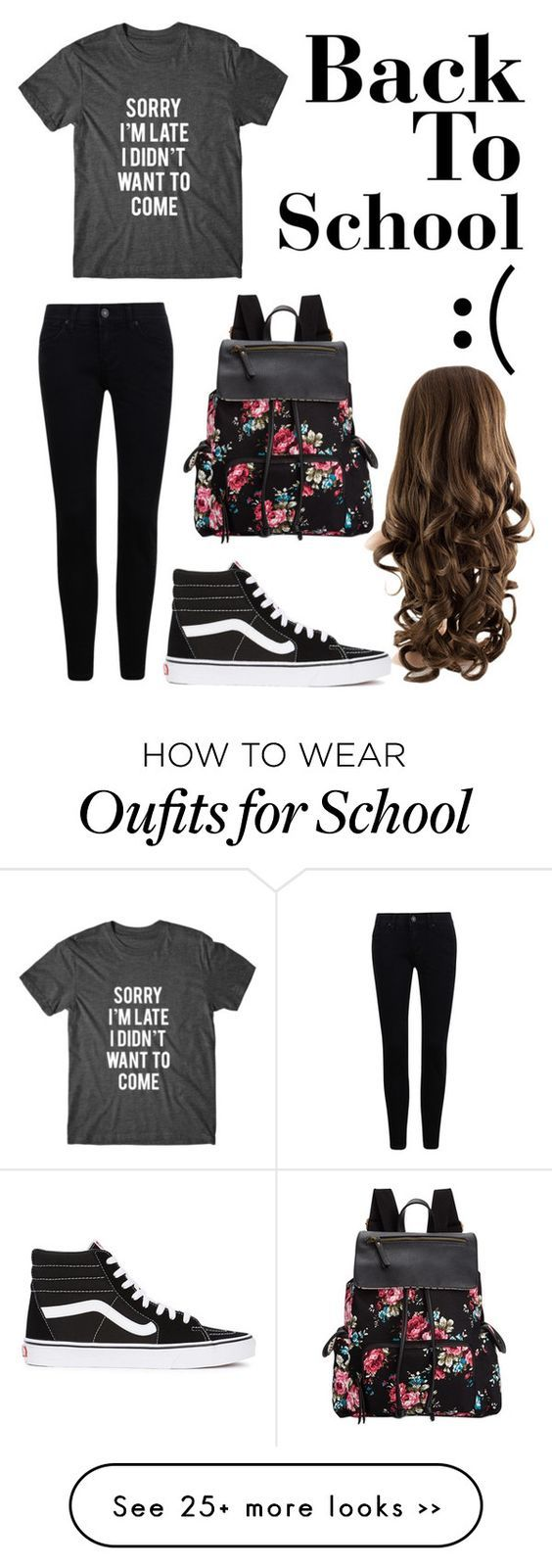 """Back To School:("" by unicorn-narwhal on Polyvore featuring Madden Girl and Vans:"