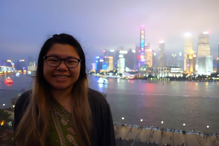 Gator Tina takes in the nightlife while studying abroad in Hong Kong. #SFSU