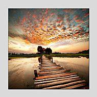 HANDMÅLAD Abstrakta landskapModerna / Europeisk Stil En panel Kanvas Hang målad oljemålning For Hem-dekoration – SEK Kr. 309