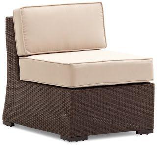 Strathwood Griffen All-Weather Wicker Sectional Armless Chair, Dark Brown | Strathwood Griffen | Strathwood Outdoor Furniture