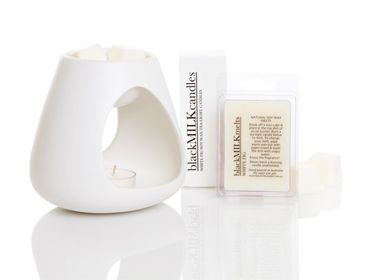 Black Milk Candles - White Matt Oil Burner $20