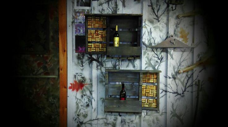 Two quark board wine racks for sale