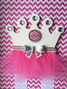 Hair Bow Holder Pink Princess Tutu Crown Hair by TheJMarieBoutique, $14.99