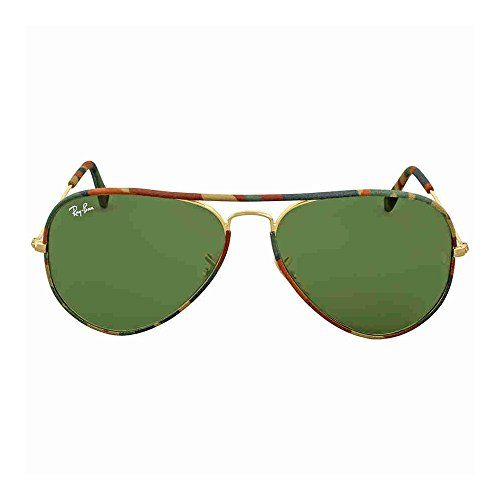 8af11c821d Aviator sunglasses | RayBan AVIATOR FULL COLOR GOLD Frame GREEN Lenses 58mm  NonPolarized >>>