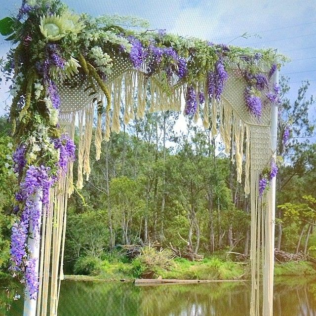 Macramae Ideas Wedding Arch: DIY: This Looks Fabulous. I Hope There Is Some Wysteria We