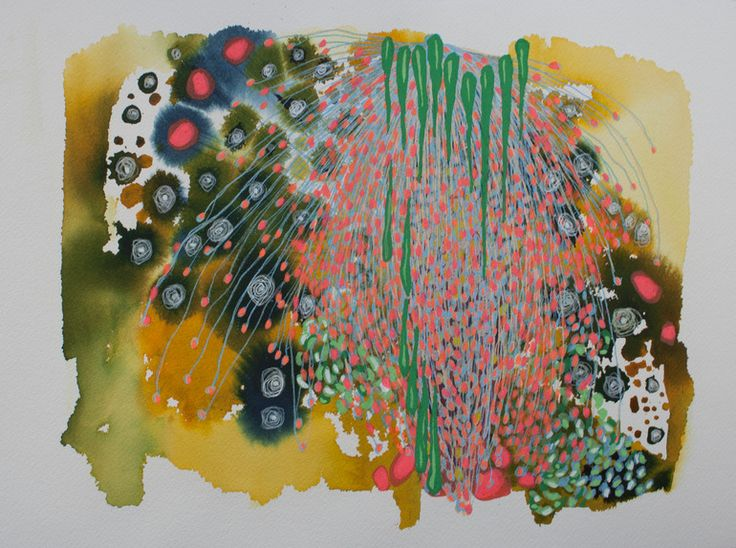 "Saatchi Online Artist: Virginie Gallois; Ink, 2012, Painting ""Sous les grands arbres #6"" #art"