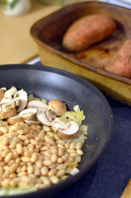 white bean and kale stuffed sweet potato | Vanishing Veggie Blog | Pi ...