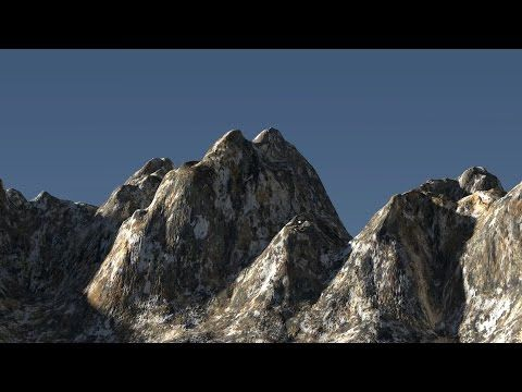 Blender cycles landscape CGI - Taplic video