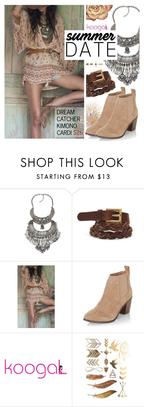 """""""Trend: Bohemian look"""" by koogallove ❤ liked on Polyvore featuring Black & Brown London and New Look"""