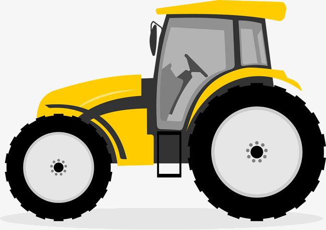 Cartoon Tractor Hand Painted Cartoon Tractor Vector Png And