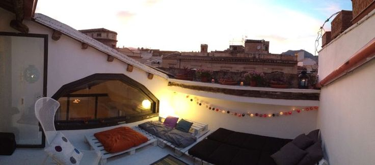 Sunset on the terrace