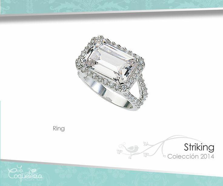 El anillo Striking con su deslumbrante marco de Zirconias similares al diamante, presenta su increíble Zirconia de corte esmeralda en un engarce de puente horizontal único. Tallas 6 - 10. www.lacoqueteria.co #rings #anillos #accesories #beautiful #lacoqueteria  #fashion #shoppingonline #tiendaenlinea #mexico #accesorios #boda #moda #vestidos #casual #joyeria #bisuteria #monterrey #merida