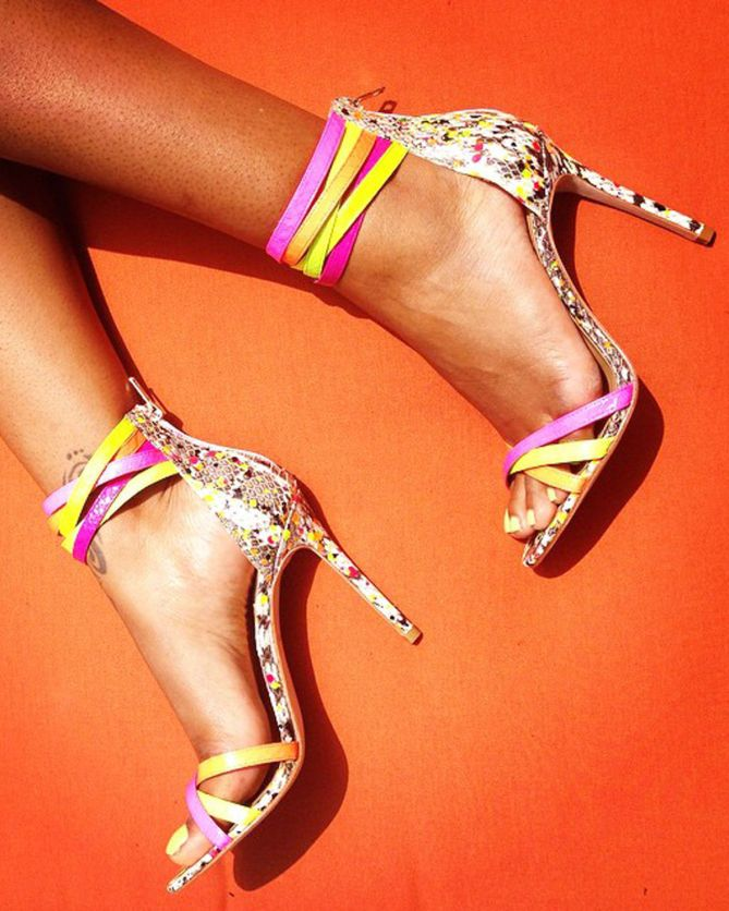Pump it up (literally) with some neon heels when you're in need of an 80's flash back Friday look!