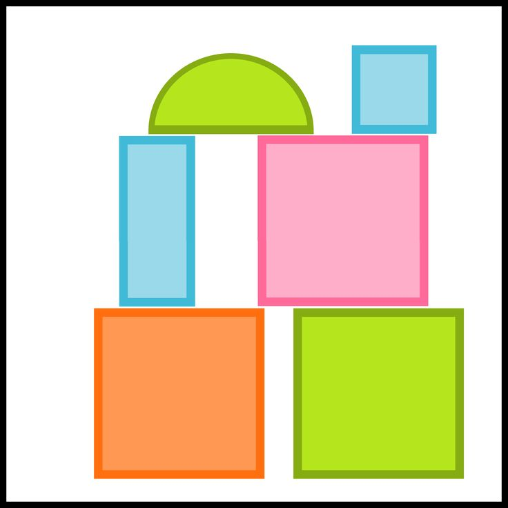 Kaartjes kiesbord - blokken - bouwhoek