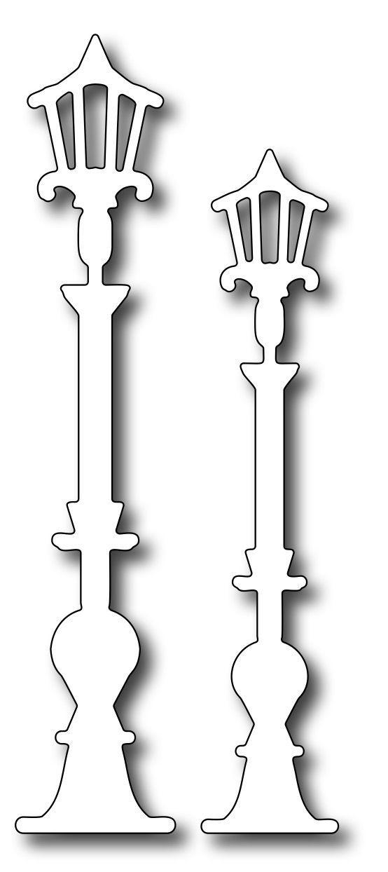 Frantic Stamper Precision Die - Paris Street Lamps