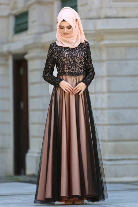 Tuay – Gewölbtes Graues Hijab-Abendkleid 72430GR GROSSES KLEID IM ABENDKLEID …   – Burkha