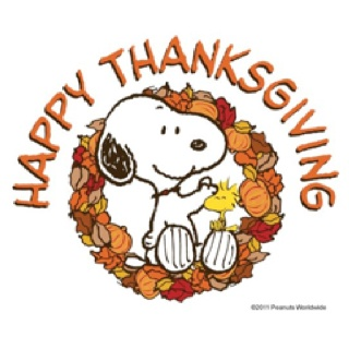 Happy Thanksgiving with Snoopy and Woodstock