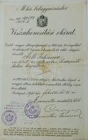 Visszahonosítási okirat Budapest, 1931. február 21. | axioart.com