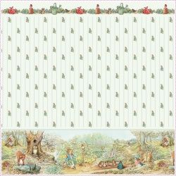 Beatrix Potter Garden Harvest Wallpaper | Dolls Houses | Dolls House Furniture | Dollshouse Miniature | Dollhouse Lights | Childrens Dolls Houses & Accessories | Sussex.