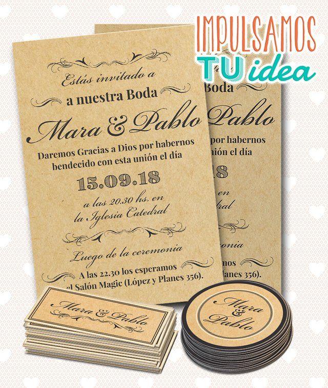 Tarjeta De Boda Para Imprimir Invitación Y Personal L Y M