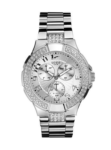 Women's Watches Online   Prism Silver-Tone Watch   GUESS Australia