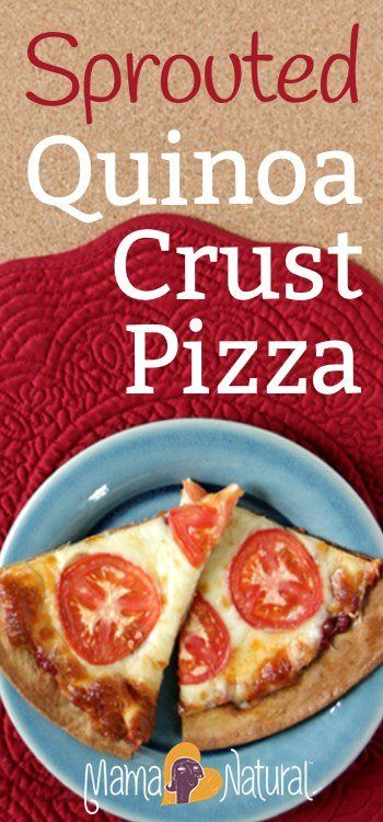 This sprouted pizza crust recipe is a delicious, gluten-free lunch or dinner for your family to enjoy from Mama Natural :)