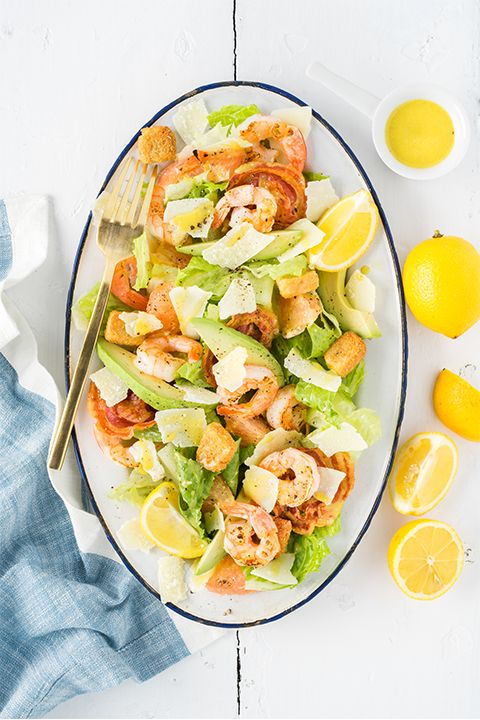 INGREDIENTS BY SAPUTO | Need lunch inspiration? How does the best-ever homemade Caesar salad recipe sound? This simple mix of lettuce, avocado, shrimp, pancetta and Parmesan Petals is the perfect way to turn your lunch hour into a gourmet experience.