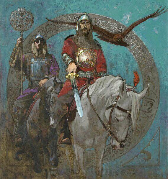 """Kazakh painter Nurlan Kilibayev. """"Sardar"""", i.e. Warrior"""