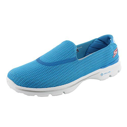 Skechers Womens GOwalk 3 Houston Slip OnBlueRedUS 85 M ** Check this awesome product by going to the link at the image.
