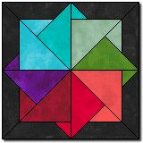 Spinning Color Wheels -- free quilt block pattern