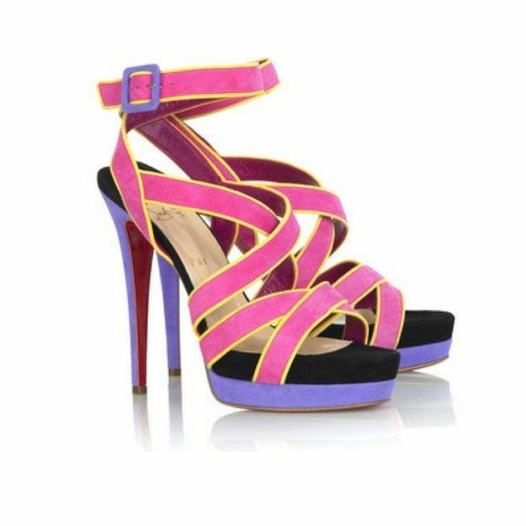 Chaussures Womens En Vente Dans La Sortie, Tangerine, Cuir, 2017, 36 Louboutin Pas Cher